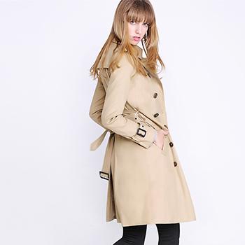 糖力2017春装新款欧美 女装裸色五分袖收腰连衣裙显瘦裙子 裸色 杏色 S