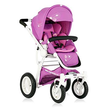Babyruler婴儿推车轻便折叠可躺婴儿车宝宝伞车儿童手推车ST136升 白色